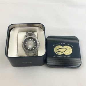 Fossil Silver Band Men's Watch